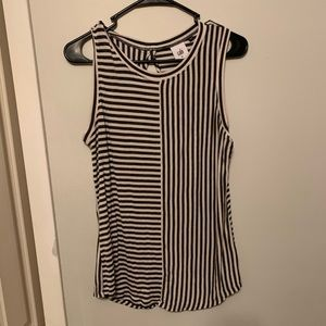 Cabi navy blue stripped sleeveless top